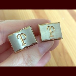 "Other - Cuff links with monogram""P"""
